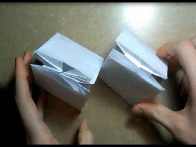 Origami Gift Box. Package Tutorial