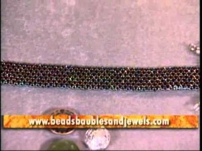 Peyote Stitch Bracelet with Bead Stopper