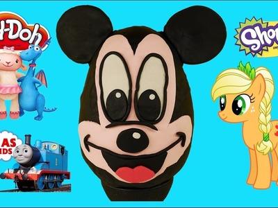Play Doh Surprise Egg Giant Mickey Mouse - Thomas & Friends, Shopkins, Doc McStuffins, MLP, LEGO
