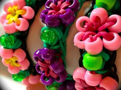 Rainbow Loom Beaded Starburst Flower Bracelet