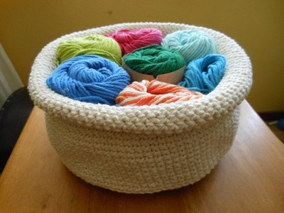 Round Crochet Basket Tutorial
