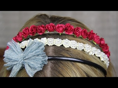 ♡ Three Quick & Easy DIY Headbands ♡