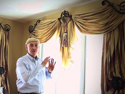 Video #34: Do It Yourself Drapes | Window Treatment Ideas With Swags, Scrolls and Holdbacks