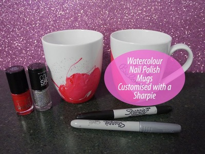Watercolor Nail Polish Mugs - DIY gift idea