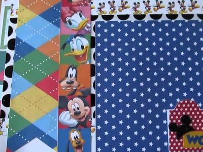 12x12 Scrapbook Layouts (Disney)