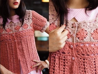 #16 Peasant Cardi, Vogue Knitting Crochet 2013 Special Collector's Issue