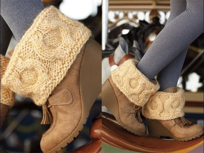 #29 Cabled Boot Toppers, Vogue Knitting Holiday 2012