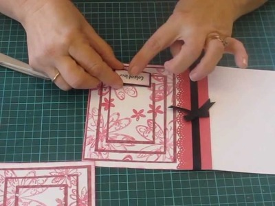 3 Layer Stamped Card Tutorial using Kaisercraft Papers - Alice in Paperland - Sydney