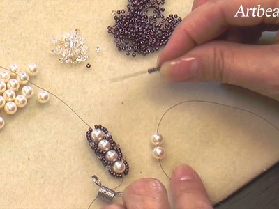 Artbeads Mini Tutorial - Flat Spiral Rope Seed Bead Technique with Cynthia Kimura