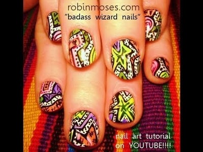 Colorful Abstract Nail Art