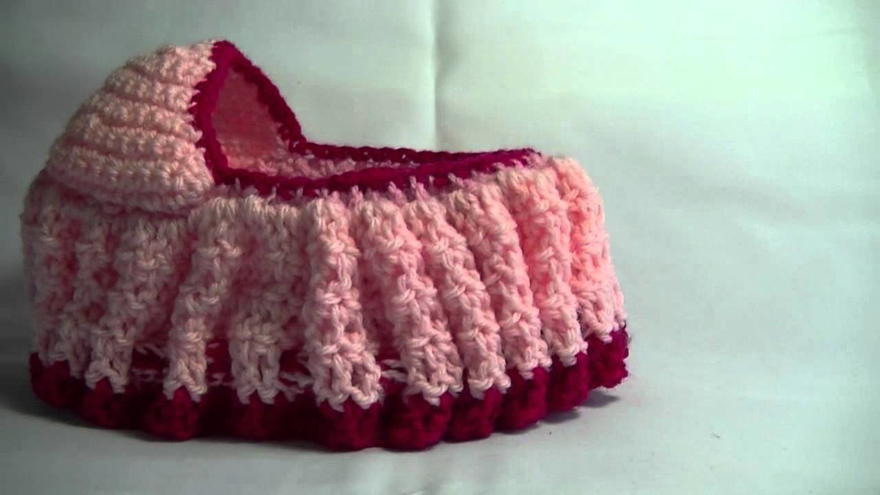Crochet Cradle Purse Part 3 of 3 Bag. purse that turns into a Doll Cradle