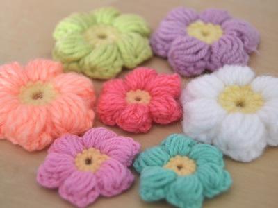 Crochet : Flores puff (intermedio)