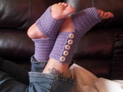 Crochet Tutorial - Button Up Yoga Socks Pt. 1
