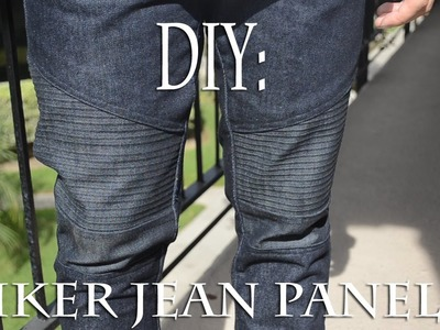 DIY: Biker Jean Panels (Biker Jeans) Tutorial