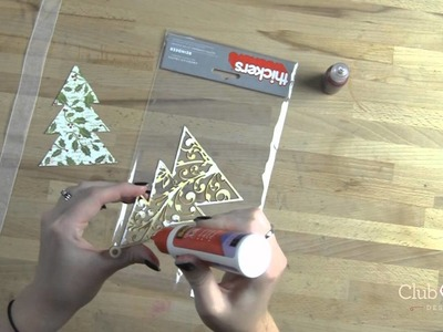 DIY Glittery Wooden Ornaments for Christmas or Anytime