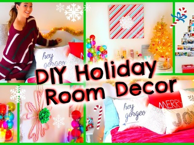 DIY Holiday Room Decor ♡ + Fun Christmas Decorations for Your Room!!