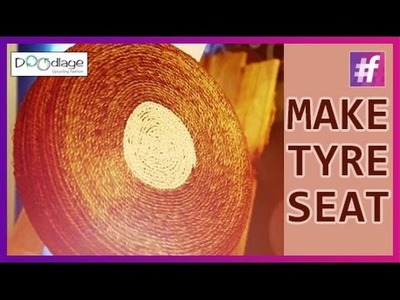 DIY : How to Make Designer Seats Using Old Tyres | Diwali Decorations