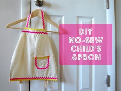 DIY No-Sew Child's Apron | Evey's Donut Party