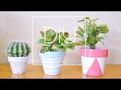 DIY Painted Plant Pots