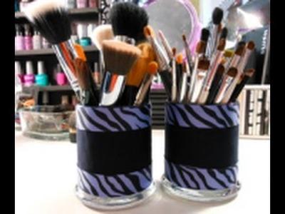 DIY: Re-vamp Your Brush Holders! ♡ Theeasydiy #BeautyDIY