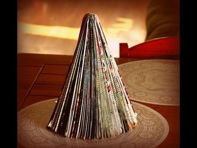 DIY Recycled Magazine Christmas Tree Martha Stewart Inspired