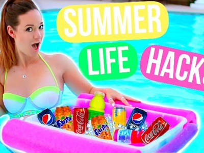 DIY Summer Life Hacks Everyone MUST Know!!!