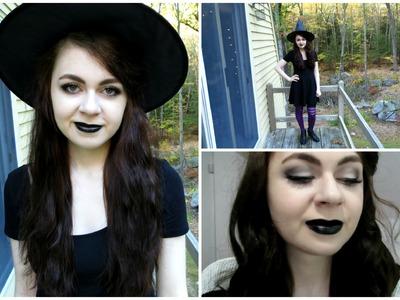 DIY Witch Costume + Makeup Tutorial