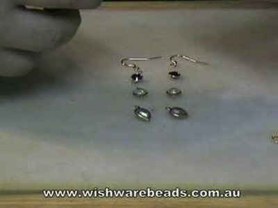 Drop Link Earrings Swarovski@Wishware Beading Classes