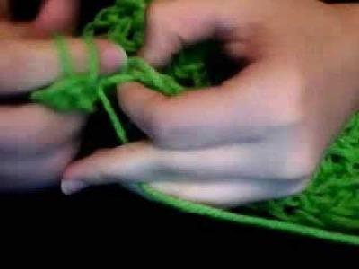 Hookless Finger Crochet- Solid Shell stich 02