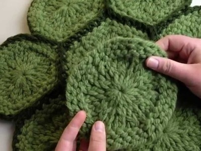 How to Connect Granny Rounds by Single Crochet