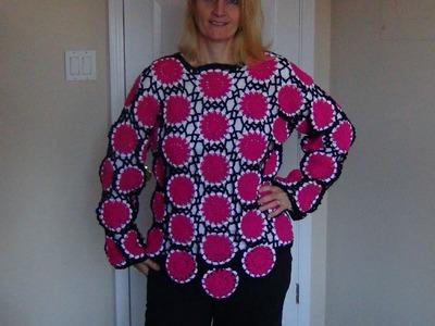 How to crochet a sweater using motifs part 3