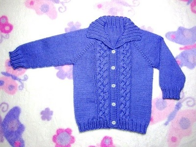 How to Knit a Seamless Braided Cable Baby Sweater Part 5