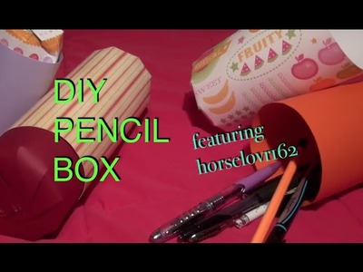 How to make a DIY Paper Pencil Box