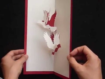 How To Make A Flying Doves Pop Up Card, DYI Project Tutorial