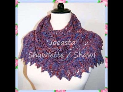 Jocasta Heirloom 4ply Lace Yarn Shawlette Shawl Wrap Warmer Knitting Pattern by Adel Kay