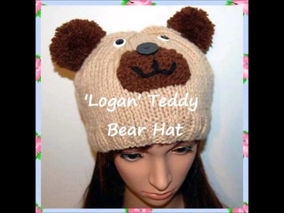 Logan Teddy Bear Hat Beanie Knitting Pattern