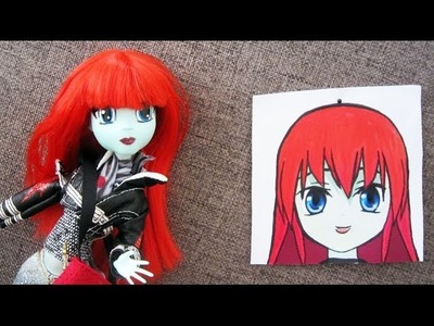 Monster High Make-up Transformation: From Monster High to Japanese Animation - EP