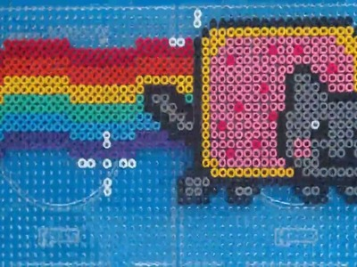 Nyan Cat HAMA Bead Art Animation (Stop-Motion)