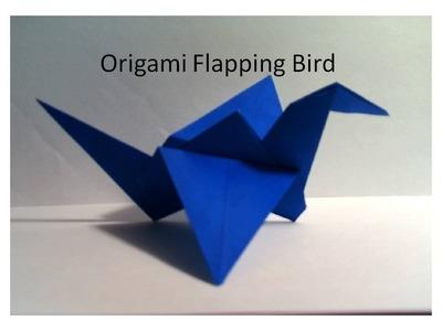 Origami Flapping Bird. Crane