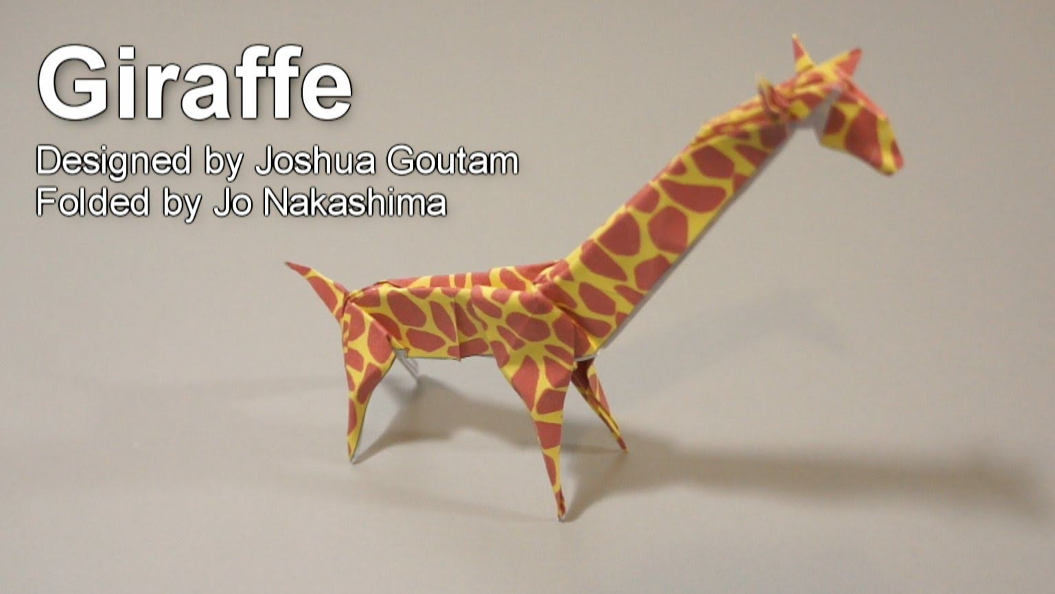 Origami Giraffe (Joshua Goutam)