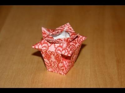 Origami tutorial - Chinese vase