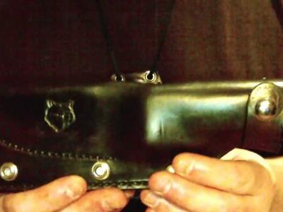 Part 1 - Custom leather bush craft sheath Boker Camp Knife