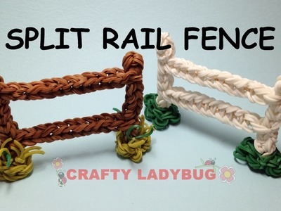 Rainbow Loom FENCE-SPLIT RAIL Advanced Charm Tutorials by Crafty Ladybug. Wonder Loom, DIY LOOM