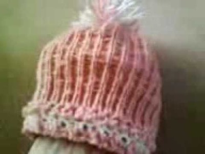 Round Loom knitting baby hat