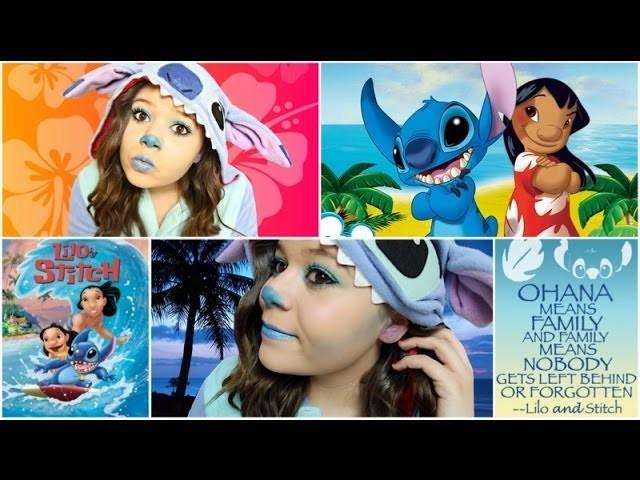 Stitch Halloween Costume&Makeup+DIY Ohana Sign!