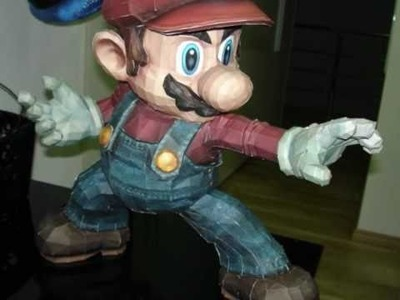 Super Smash Bros. Brawl Mario Papercraft Stopmotion