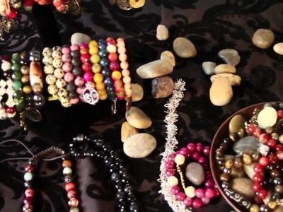 Swarovski Crystal & Gemstone Bead Shamballa Bracelets Necklaces Jewelry Sets & more!