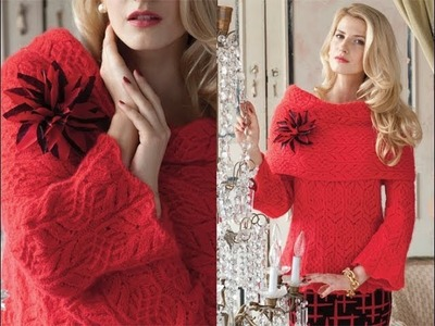 #1 Lace Pullover, Vogue Knitting Holiday 2010