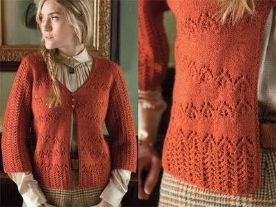 #16 Lace Cardigan, Vogue Knitting Early Fall 2010