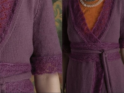 #21 Lace Trimmed Top, Vogue Knitting Early Fall 2011